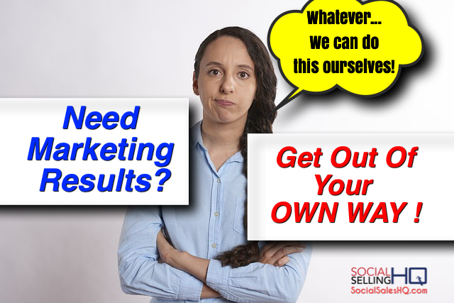 Social Selling Rule 1 to get Marketing Results.
